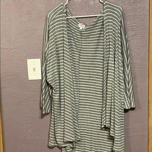 LuLaRoe Loose Gray Striped Cardigan